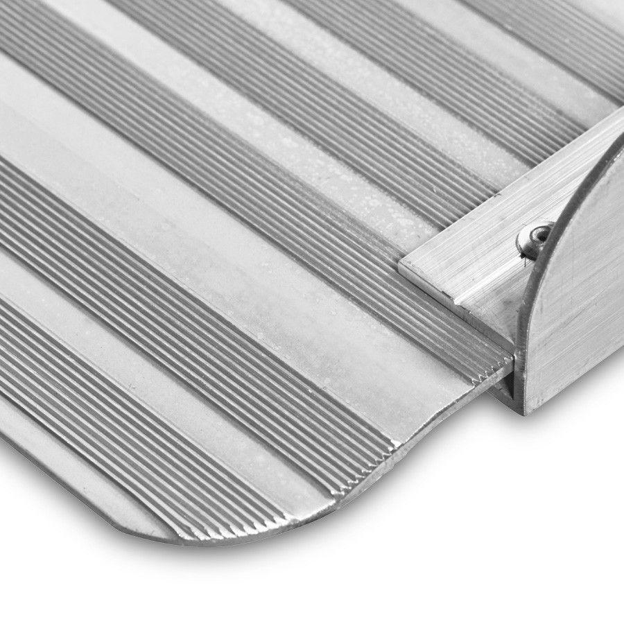 Oprijplaat extra breed - 240 cm rijplaat rijgoot aluminium plaat 15