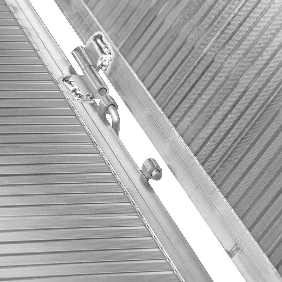Oprijplaat extra breed - 240 cm rijplaat rijgoot aluminium plaat 14