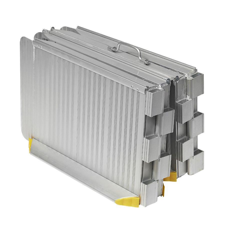 Oprijplaat inklapbaar - 120 cm rijplaat oprijgoot aluminium  7