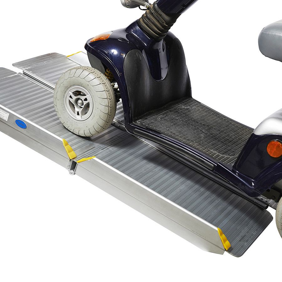 Oprijplaat inklapbaar - 120 cm rijplaat oprijgoot aluminium  8