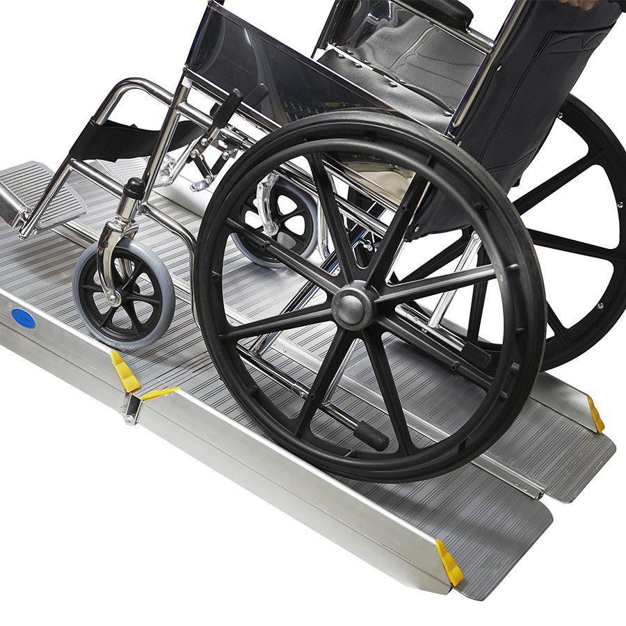 Oprijplaat inklapbaar - 120 cm rijplaat oprijgoot aluminium  10