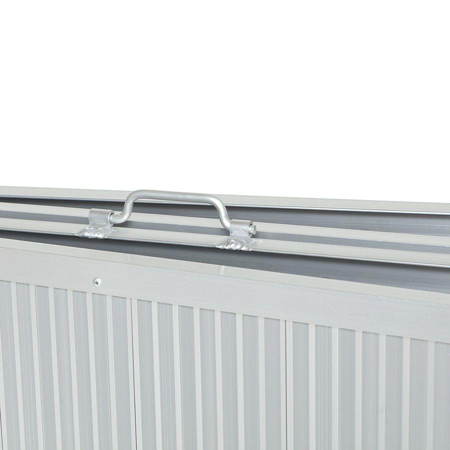 Oprijplaat drempelhulp inklapbaar - 180 cm rijplaat oprijplank aluminium 5