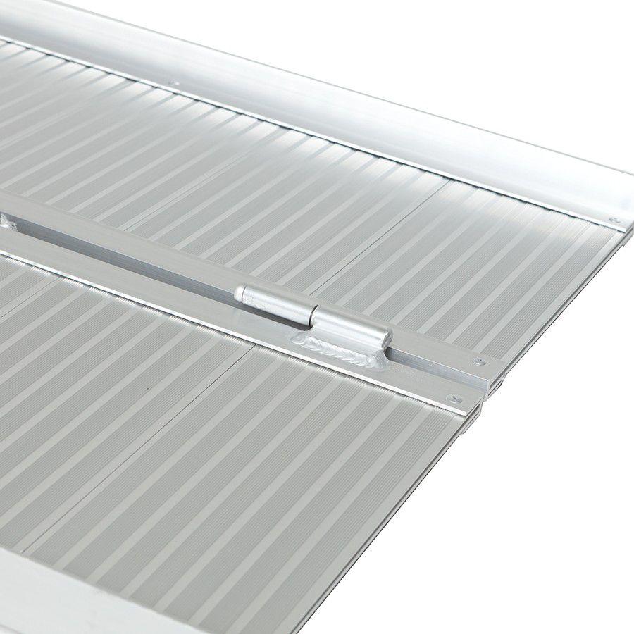 Oprijplaat drempelhulp inklapbaar - 180 cm rijplaat oprijplank aluminium 4