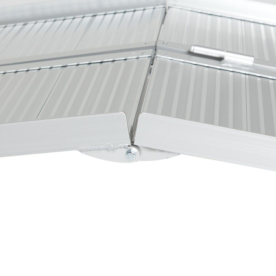 Oprijplaat drempelhulp inklapbaar - 180 cm rijplaat oprijplank aluminium 3