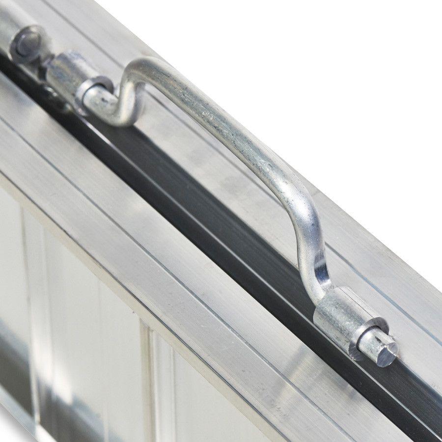 Oprijplaat extra breed - 240 cm rijplaat rijgoot aluminium plaat 8