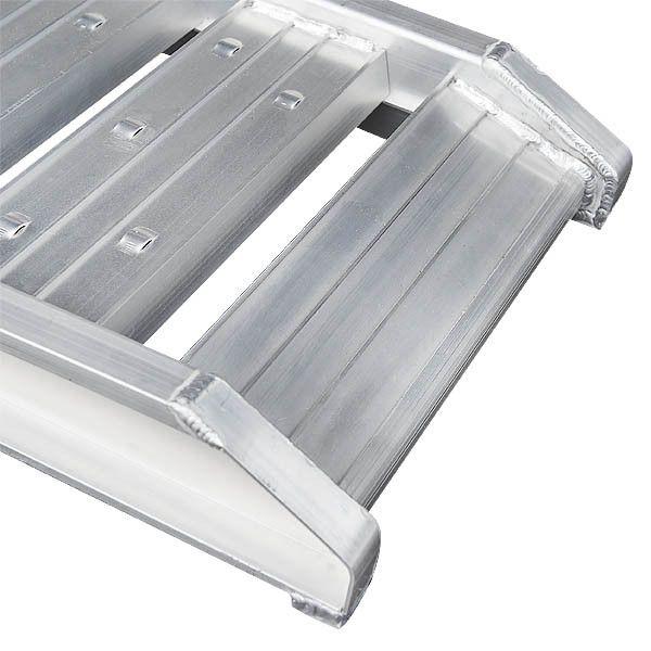 Aluminium oprijplaat - extra sterk 240 cm oprijgoot oprijhelling 6