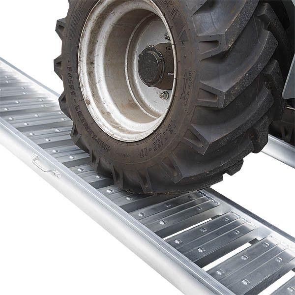 Aluminium oprijplaat - extra sterk 240 cm oprijgoot oprijhelling 1