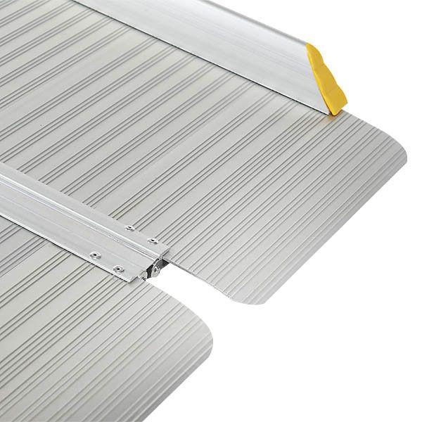 Sterke oprijplaat aluminium - inklapbaar - 180 cm rijplaat oprijgoot 5