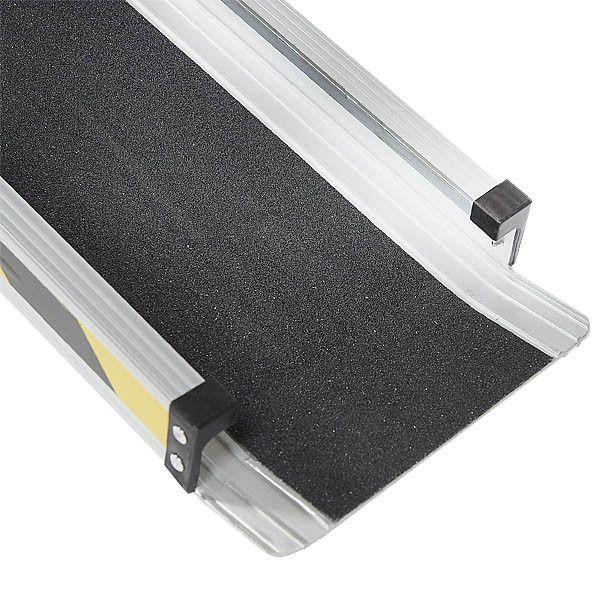 Aluminium oprijplaat - 150cm - inschuifbaar rijplaat rijgoot 8