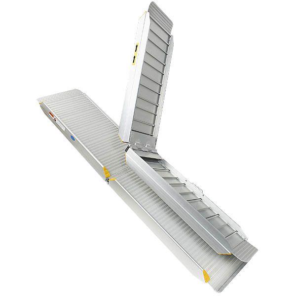 Oprijplaat aluminium - inklapbaar - 240 cm oprijgoot rijplaat 7