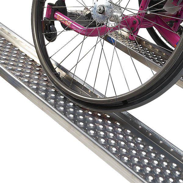 Oprijplaat aluminium 200 cm rijplaat oprijgoot 3
