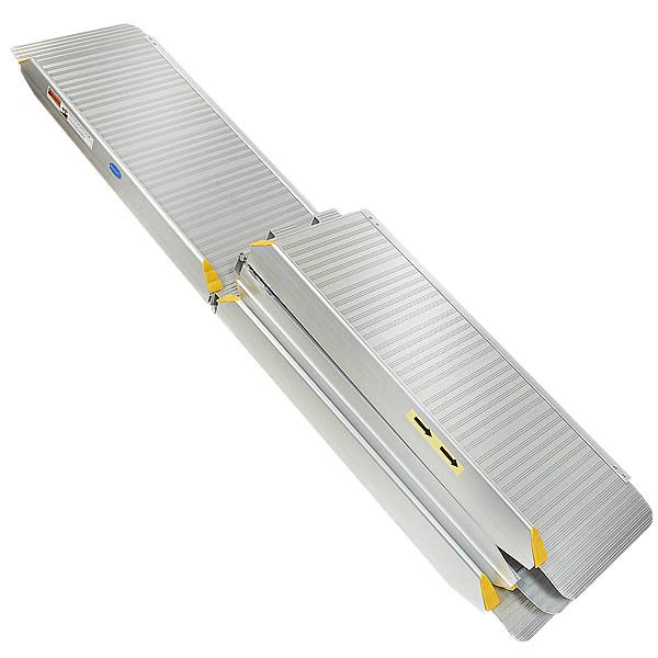 Oprijplaat aluminium - inklapbaar - 240 cm oprijgoot rijplaat 6