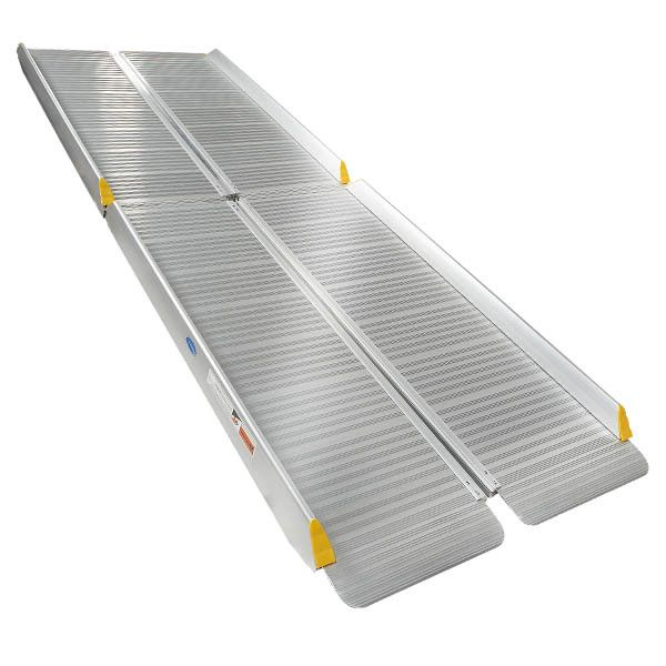 Oprijplaat aluminium - inklapbaar - 240 cm oprijgoot rijplaat 2
