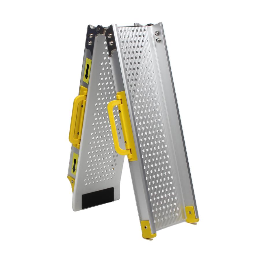 Aluminium oprijplaat inklapbaar - 120 cm rijplaat rijgoot oprijhelling 1