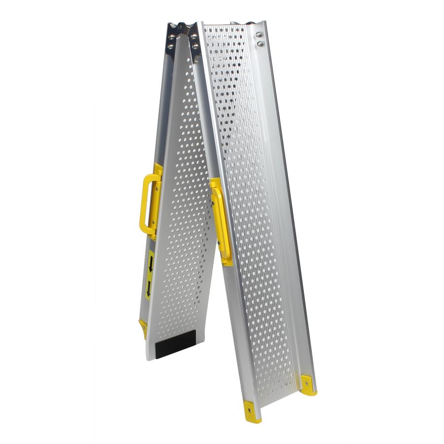 Aluminium oprijplaat opvouwbaar - 180 cm rijgoot rijplaat 1