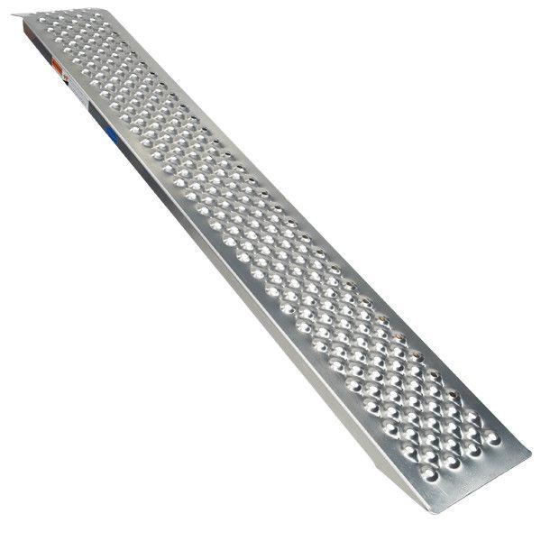 Oprijplaat rijplaat - aluminium - 150 cm rijgoot oprijhelling 1