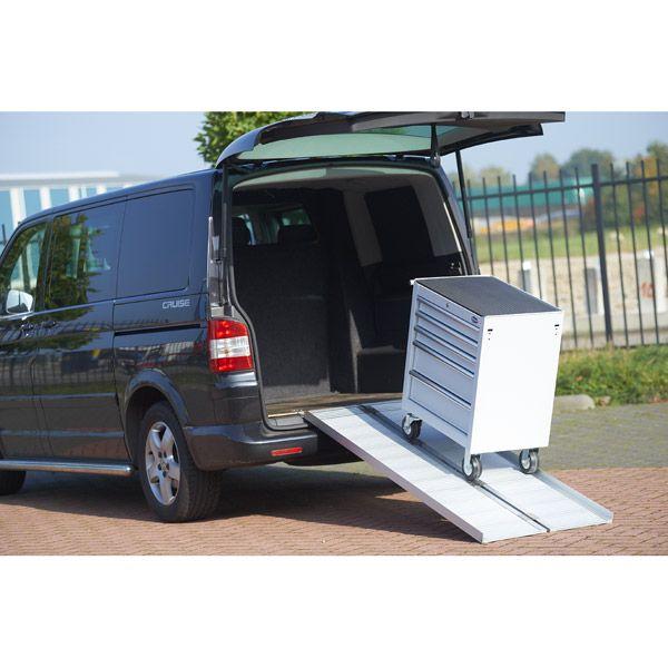 Oprijplaat scootmobiel 120 cm - aluminium rijgoot rijplaat rolstoel rollator 11
