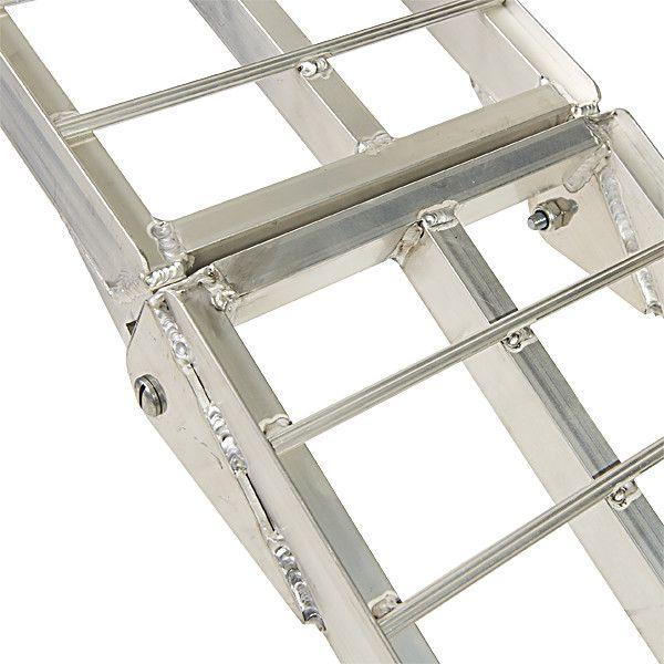 Aluminium oprijplaat 225 cm rijplaat oprijgoot rijplank 8