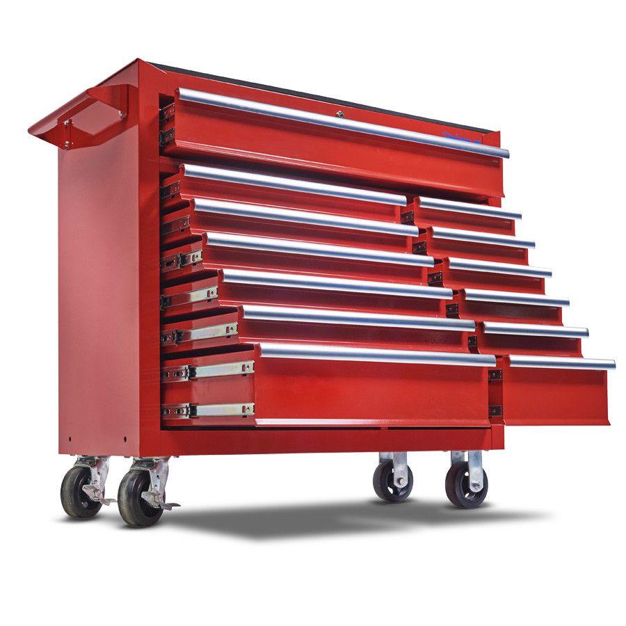 Gereedschapswagen met 13 laden - rood 1
