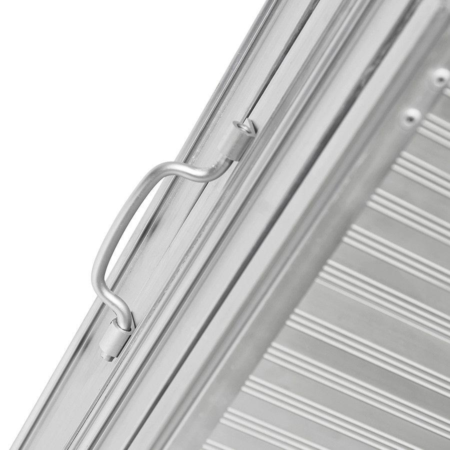 Oprijplaat inklapbaar - 120 cm rijplaat oprijgoot aluminium  3