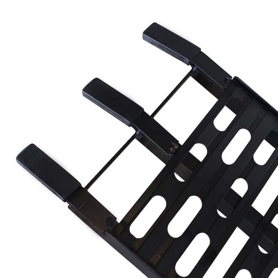 Extra sterke aluminium zwarte oprijplaat opklapbaar - 225 cm rijplaat oprijplank 4