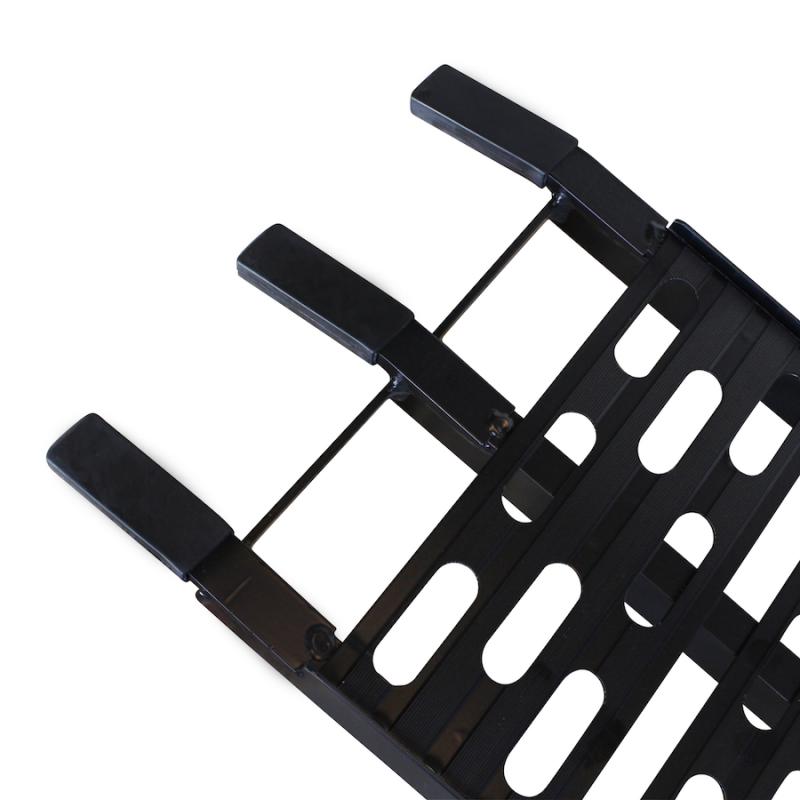 Extra verstevigde aluminium zwarte oprijplaat opklapbaar - 225 cm - 2 stuks 2