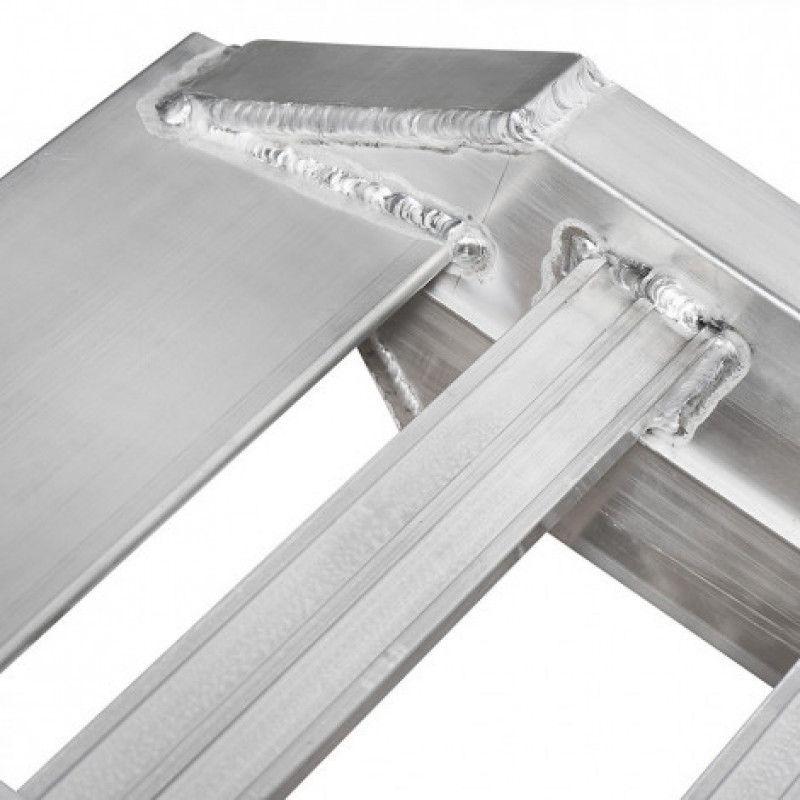 Afwerking van aluminium oprijplaat voor auto's