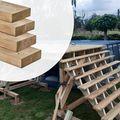 Balk Geïmpregneerd hout 4.5 x 14.5 cm glad geschaafd