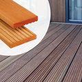 Terrassendielen Bankirai Hartholz Premium Qualität - Kerben/Rillen 2,5 x 14,5 cm
