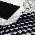 Grindmatten 120 x 80 x 2.5 cm Wit of Zwart met worteldoek