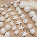 Kerstboomversiering wit kerstballen onbreekbaar