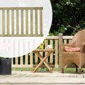 Luxe tuinhek Geïmpregneerd naaldhout 150 x 73 cm