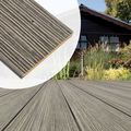 Vlonderplank geborsteld Bankirai hardhout - vintage grijs
