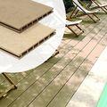 Resysta vlonderplank Bruin Grijs met effen/fijne ribbel zijde