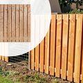 Tuinscherm Lariks Douglas deLuxe 180 x 180 cm 21 planks (19+2)