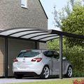 aluminium carport met rond dak antraciet
