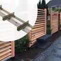 Draaibare Lamellen - 2 stuks rails Flex Fence