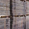 Steenschotten Azobe hardhout 140 x 95 cm Ruw