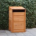 Cache-poubelle simple en bois exotique - 75 x 75 x 135 cm