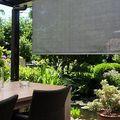 Rolgordijn antraciet veranda