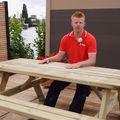 picknicktafel geimpregneerd hout 180 cm