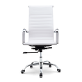Bureaustoel Randers - Wit hoge rugleuning