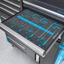 "18-delige inbus- en torxsleutel set met T-greep in ""PRO"" softmodule 1"