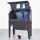 Straalkasten met voordeur en afzuiging 420 liter