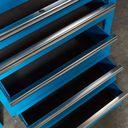 Hoekwerkbank met MDF blad + gereedschapskast blauw 4
