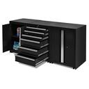 Werkplaatskasten set PRO XL - Zwart 3