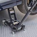 Zeer sterke aluminium krik onder de auto