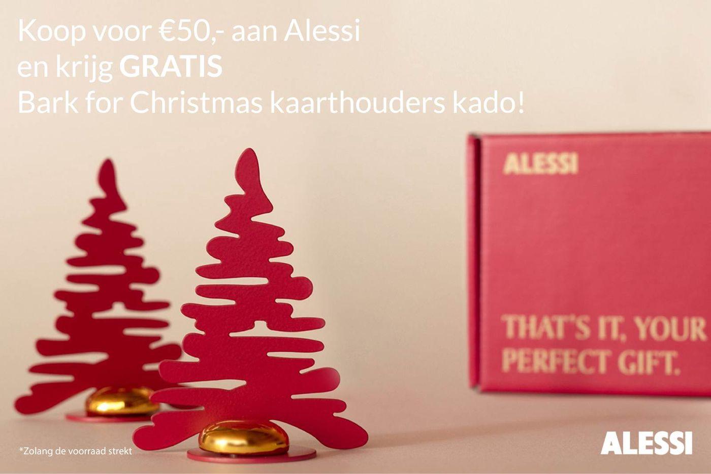 Gratis Alessi Bark for Christmas bij order vanaf € 50,-