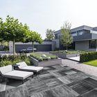 Paved terrastegels Stuttgart 80x80x5cm asgrijs