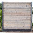 Schutting kant en klaar betonpaal met grijze vuren blokhutprofielen